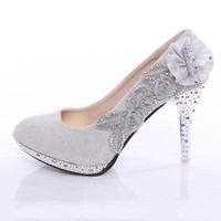 New Women's Rhinestone Flower Shoes