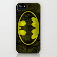 BATMAN logo early 90's iPhone & iPod Case by Bruce Stanfield