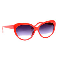 Red Sizzle Cat Eye Sunglasses