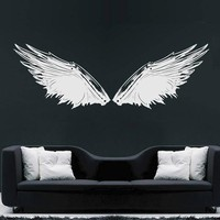 ik1709 Wall Decal Sticker angel wing feathers baby room Bedroom