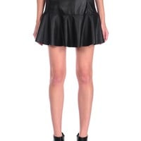 Blank NYC Vegan Leather Skirt - Blacked Out