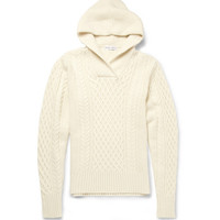 Michael BastianHooded Cable-Knit Wool and Cashmere-Blend Sweater MR PORTER