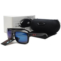 READY STOCK Oakley Original Unisex Sunglasses Frogskins Black Blue Lens