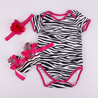 Zebra Onesuit with shoes & headband