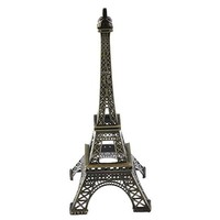 Firefly Imports Eiffel Tower Paris France Metal Cake Stand, 6 by 2.5-Inch, Black