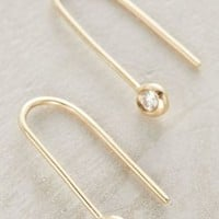 Misa Jewelry Brilliant Threaded Earrings in Gold Size: One Size Earrings