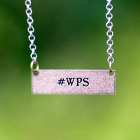 #WPS Necklace {Silver Tone Copper}