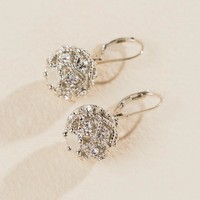 Aviana Filigree Ball Drop Earring In Silver