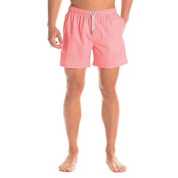 Bermuda Swim Trunks in Basketcase by The Southern Shirt Co..