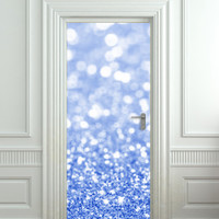 Door Wall STICKER poster bling glitter sparks blue by Wallnit