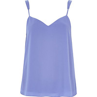 River Island Womens Blue V-neck cami top