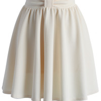 Delight My Bow Skater Skirt in Beige Beige S/M