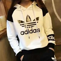 Tagre™ Fashion Adidas Hooded Pullover Tops Pants Trousers Set Two-piece Sportswear
