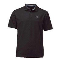 Men's Tech Polo in Black by Under Armour
