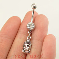 belly ring,Tathāgata belly button rings,Buddha bellybutton jewelry,navel ring,body piercing,friendship bellyring