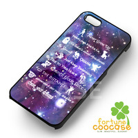 disney lessons quotes-ny for iPhone 6S case, iPhone 5s case, iPhone 6 case, iPhone 4S, Samsung S6 Edge