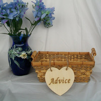 Advice Wedding Sign, Wood Heart Sign, Rustic Wedding Heart Sign, Advice For Bride and Groom, Photo Prop