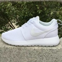 NIKE Trending Fashion Casual Sports Shoes Pure White-1