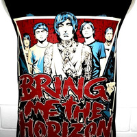 Bring Me The Horizon Tattoo Rock Band Music Heavy Metal T Shirt Tank Top Singlet Vest Sleevless Size M