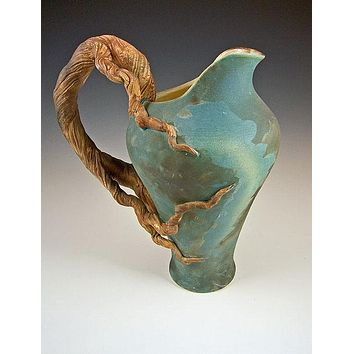 Branch Pitcher Ceramic Artwork by Bonnie Belt