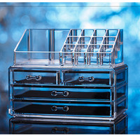 Express Free Shipping 1PC Makeup organizer storage box acrylic make up organizer cosmetic organizer makeup storage drawers