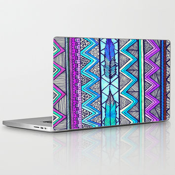 Two Feathers (color version 3) Laptop & iPad Skin by Lisa Argyropoulos