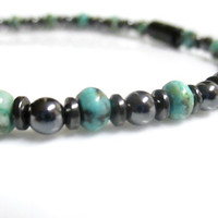 Magnetic Hematite Bracelet - African Turquoise Therapy Bracelet