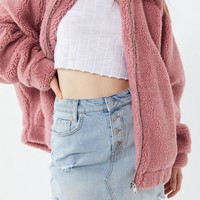 UO Dolman Teddy Jacket | Urban Outfitters
