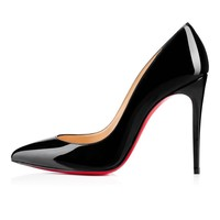 $675 CHRISTIAN LOUBOUTIN PIGALLE FOLLIES 100 PATENT LEATHER PUMPS HEELS SIZE 41