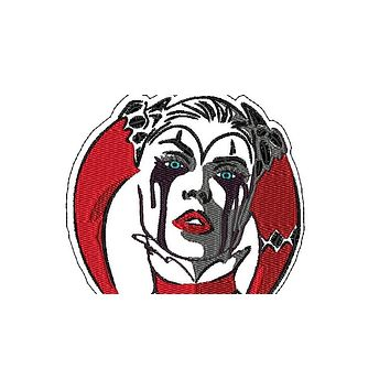 "Patch Craft -Harley Quinn Head - (4.8"" x 6.0"" Patch Iron On)"