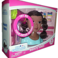 African American Beauty Salon Hair Styling Head Doll with Accessories