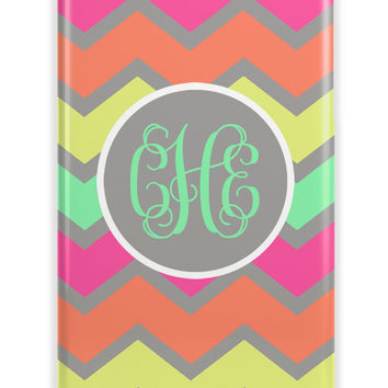 MULTICOLORED CHEVRON - GIRLY MONOGRAM IPHONE CASE