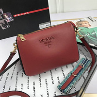 prada women leather shoulder bags satchel tote bag handbag shopping leather tote crossbody 126