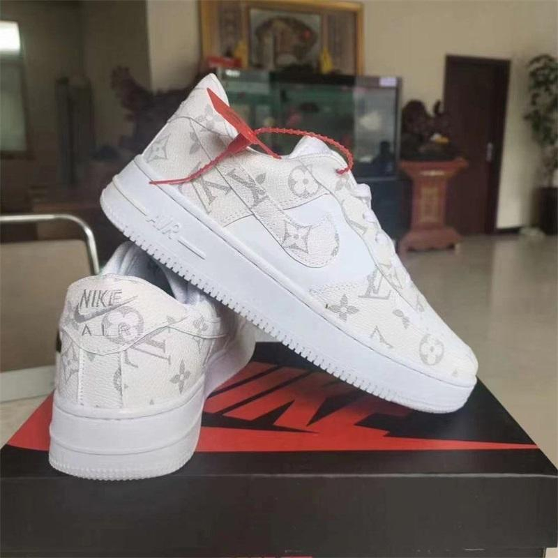 Image of Louis Vuitton LV Nike Air Force 1 Low Monogram Mens and Womens Sneakers Shoes