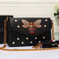 Women Brand Bee PU Leather Shoulder Bag Small Crossbody Bag with Chain For Girls Ladies Bag Bolso Mujer G-LLBPFSH