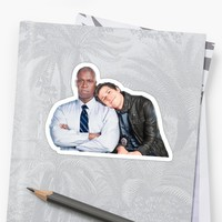 'Brooklyn Nine Nine- Holt and Jake ' Sticker by dailybrooklyn99