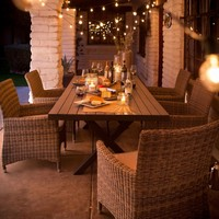 Belham Living Bella All Weather Wicker Patio Dining Set - Seats 6 | www.hayneedle.com