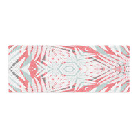 """Alison Coxon """"Planthouse Raspberry"""" Coral Gray Bed Runner"""