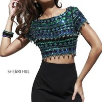 Sherri Hill Short Homecoming Dress 32040 at Peaches Boutique