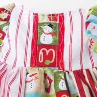 """HANDMADE, AG Clothes, Fit 18 inch dolls or 15"""" bitty baby Snowman Dress Outfit"""