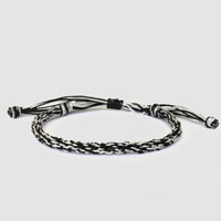 Rope Friendship Bracelet, Black and Gray