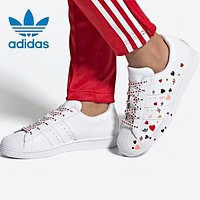 Adidas Originals Superstar Fashion Women Men Casual Heart Print Sport Running Sneakers Shoes