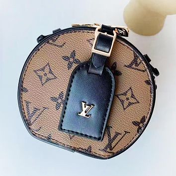 Louis Vuitton LV Fashion New Monogram Print Leather Shopping Leisure Shoulder Bag Women
