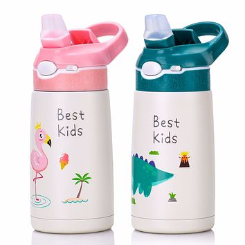 Xiaoliangzi Children Student Vacuum Flask 316 Stainless Steel Straw Water Cup Portable Leak-Proof