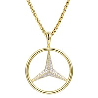 Custom Luxury Car Logo  Silver 14k Gold Finish Pendant