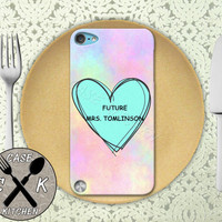 Future Mrs. Tomlinson Pink Pastel Tumblr Candy Heart 1D Custom Rubber Case iPod 5th Generation and Plastic Case For The iPod 4th Generation