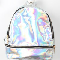 Mini Retro Holographic Backpack