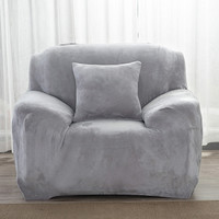 1/2/3/4 Seat Solid Color Plush Sofa Cover case Slip-Resistant Slip Covers Elastic Couch Sofa Covers Furniture Protetor Stretch