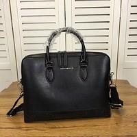 BURBERRY MEN THE BARROW LEATHER BRIEFCASE BAG