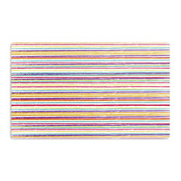 "Nika Martinez ""Summer Stripes"" Abstract Aluminum Magnet"